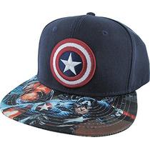 Bioworld Marvel Capitán América Logo Sublimado Bill Marina