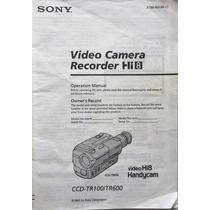 Vídeo Cámara Recorder Hi8 Handycam Sony