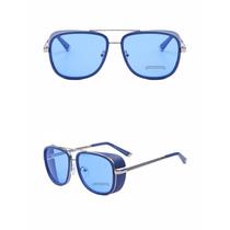 Oculos De Sol Iron Man Azul Tony Stark Homem De Ferro 3
