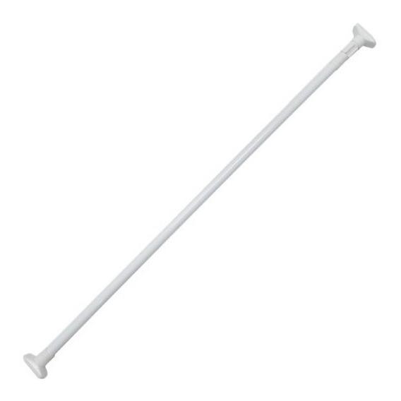 Palo Barral De Cortina Ba?o Ajustable Acero Blanco 1,10 A 2,00mt Naffull