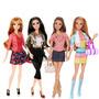 Coleção 04 Bonecas Barbie Dreamhouse Originais Articuladas
