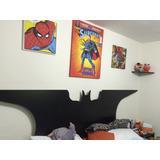 Cama King Con Cabecera De Batman Melamine. Incluye Colchon