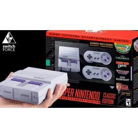 Super Nintendo Classic Edition 2017 Retrô Com 20 Jogos