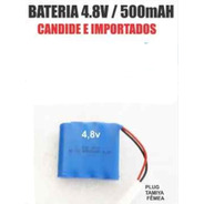 Bateria 4.8v / 500 Mah - Plugue Tamiya Branco