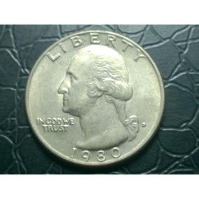 Top Eua, Estados Unidos Moeda Quarter Dollar 1980 Arremate