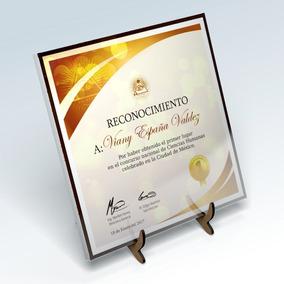 Diploma Personalizado A Color Reconocimiento Cerámica Certif