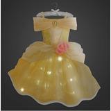 Fantasia Princesa Bela Fera Disney Original C/ Luz! T= 7/ 8