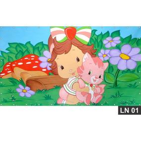 Moranguinho Baby Painel 3m² Lona Festa Banner Aniversario