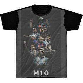 59d6f5212b Camisa Lionel Messi - Camisetas e Blusas no Mercado Livre Brasil