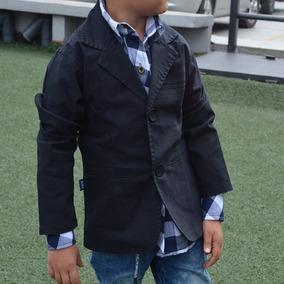 Blazer Para Niño En Dril Color Negro