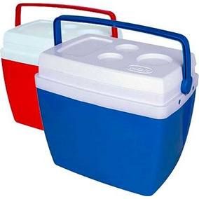 Caixa Térmica 34 Litros Cooler 34l C/ Alça E Porta Copos Mor