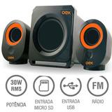Caixa Amplificada Subwoofer 140w Pc Notebook Tv Fm Usb Sk500