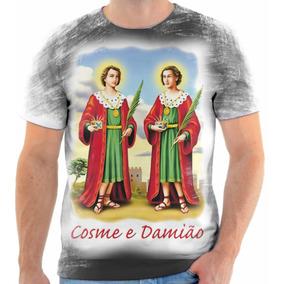 São Paulo · Camiseta Camisa Personalizada São Cosme E Damião Full Hd 04 2188480955541