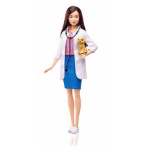 Barbie Profissões Veterinária Asiática - Mattel