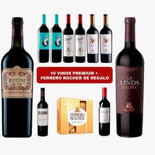 Combo X10 Vinos Premium Malbec