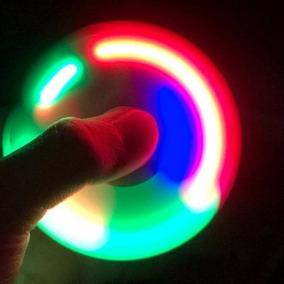 Fidget Hand Spinner Finger Anti Stress C/ Led - Cor Sortida
