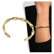 Bracelete Ondas - Dourado