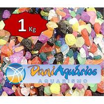 1kg Cascalho Colorido Aquários, Decoração, Pedras Coloridas
