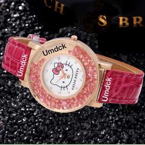Reloj Hello Kitty Cristales Flotantes Swarovski