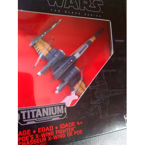 Nave Star Wars Titanium Black Series X-wing #12