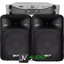 Combo 1 Amplificador Skp Max320 + 2 Bafles Skp 12 Sk512