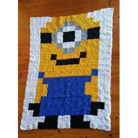 Cobija Tejida A Crochet Individual Minion