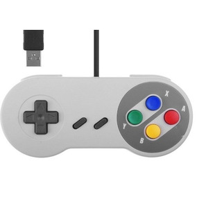 2 Controles Usb Video Game Super Nintendo Snes Pad Retro