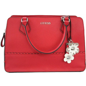 Bolsa Guess June Roja Flores Vy691406-red Original Para Dama