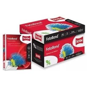 Caja Papel Scribe Fotobond Carta 5000 Hojas 95% Blancura