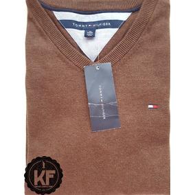 Sweater Gola V Liso Tommy Hilfiger Original