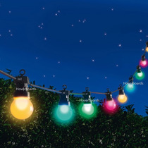 Varal De Luz Led Natal 5m C/ 10 Lampadas 1w C 50cm Espaço