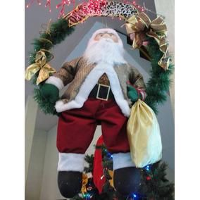 Papai Noel Na Guirlanda Grande