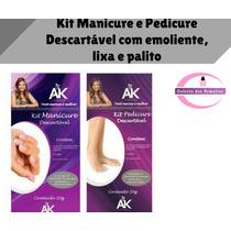 Kit Manicure E Pedicure Descartável Ak Acessórios+