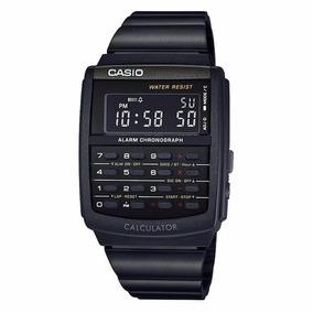 Reloj Casio Nuevo Ca506 Calculadora Metal Negro Envío Gratis