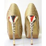 Zapatos De Fiesta Vip Plateado Dorado Negro Brillo 10% Off