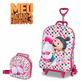 Mochila Escolar 3d Com Lancheira Agnes Minions - Maxtoy