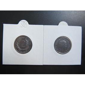 Linda Moeda De Antígua E Barbuda - 2 Cents - Ano 2002 Fc