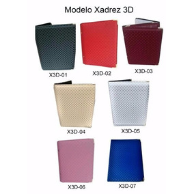 Pasta Coral Modelo Xadrez 3d N°5 Tamanho 49x33 Folha A 4