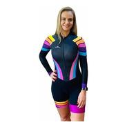 Macaquinho Ciclismo Feminino Elite Candy Preto Ml