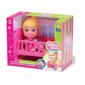 Nova Boneca Baby Little Dolls Bercinho Alive Linda Mommy