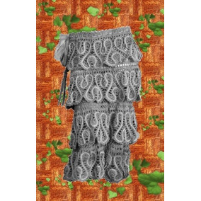 Falda - Pollera Tejida Crochet Cintura Elastizada