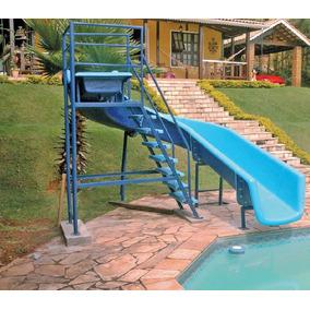 Toboágua Para Piscina Parque Aquatico Com 7 Metros Pista