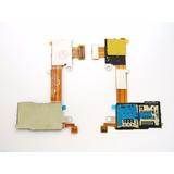 Flex Leitor Chip Xperia M2 Slot Sim Micro Sd D2302 D2306*