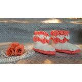Botita Para Bebe Niñas Tejido Aretesanal A Crochet Oferta¡