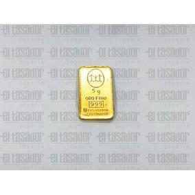Lingote De Oro 24 K 5 G Banco Ciudad *joyeriaeltasador*