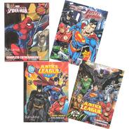 Paquete Libros Colorear Jumbo Batman Superman Super Heroes