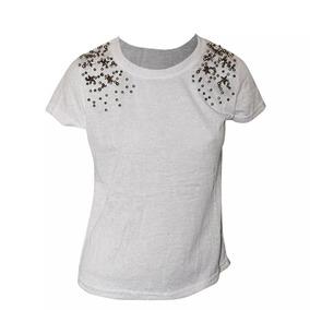 Blusa T-shirts Feminina Com Pedraria