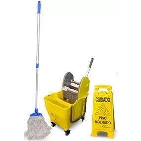 2 Kit De Limpeza Balde Espremedor Placa Mop Bralimpia Nykt01