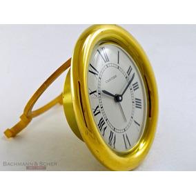 Relog Cartier De Buro Original Con Caja Chapa De Oro