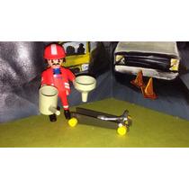 Playmobil Mecanico Con Herramientas Y Gato Taller Ciudad B